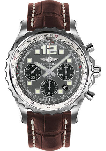 Breitling Watches - Chronospace Automatic Croco Strap - Deployant Buckle - Style No: A2336035/F555-croco-brown-deployant