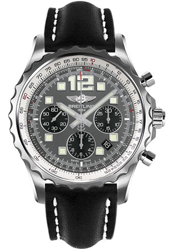 Breitling Watches - Chronospace Automatic Leather Strap - Deployant Buckle - Style No: A2336035/F555-leather-black-deployant