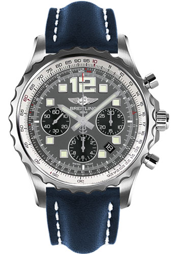 Breitling Watches - Chronospace Automatic Leather Strap - Deployant Buckle - Style No: A2336035/F555-leather-blue-deployant