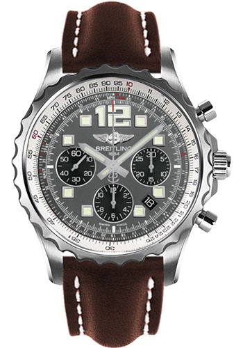 Breitling Watches - Chronospace Automatic Leather Strap - Deployant Buckle - Style No: A2336035/F555-leather-brown-deployant