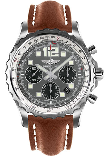Breitling Watches - Chronospace Automatic Leather Strap - Deployant Buckle - Style No: A2336035/F555-leather-gold-deployant
