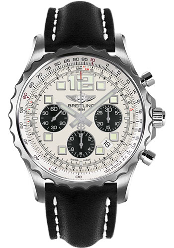 Breitling Watches - Chronospace Automatic Leather Strap - Deployant Buckle - Style No: A2336035/G718-leather-black-deployant