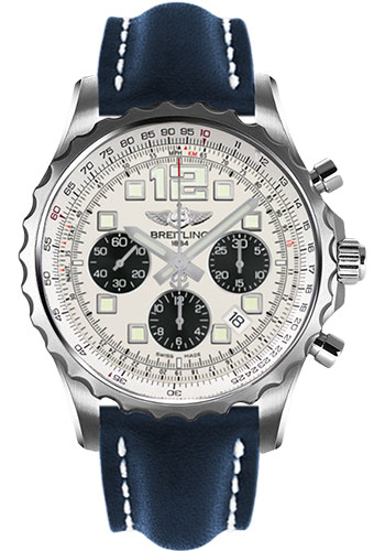 Breitling Watches - Chronospace Automatic Leather Strap - Deployant Buckle - Style No: A2336035/G718-leather-blue-deployant