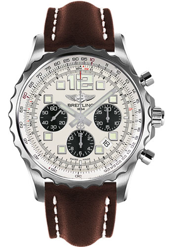 Breitling Watches - Chronospace Automatic Leather Strap - Deployant Buckle - Style No: A2336035/G718-leather-brown-deployant