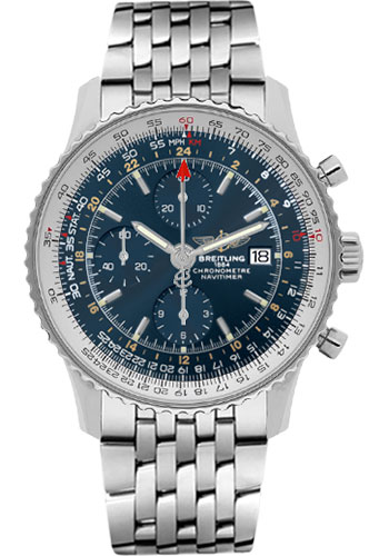 Breitling Watches - Navitimer World Stainless Steel - Navitimer Bracelet - Style No: A2432212/C651-navitimer-steel