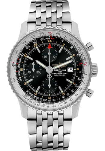 Breitling Watches - Navitimer World Stainless Steel - Navitimer Bracelet - Style No: A2432212/B726-navitimer-steel