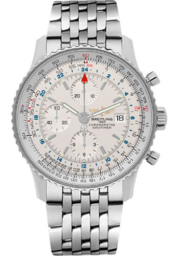 Breitling Watches - Navitimer World Stainless Steel - Navitimer Bracelet - Style No: A2432212/G571-navitimer-steel