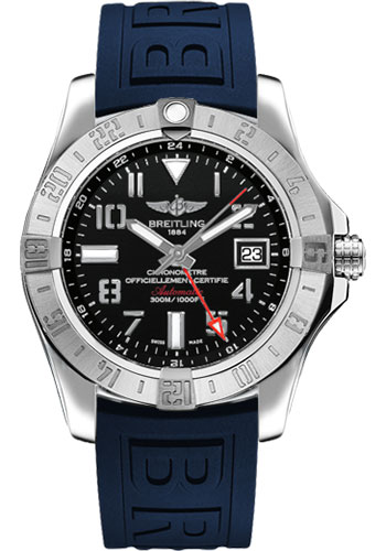 Breitling Watches - Avenger II GMT Diver Pro III Strap - Deployant Buckle - Style No: A3239011/BC34-diver-pro-iii-blue-deployant