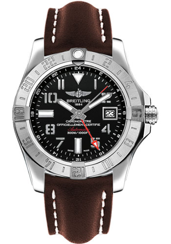 Breitling Watches - Avenger II GMT Leather Strap - Deployant Buckle - Style No: A3239011/BC34/438X/A20D.1