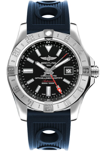 Breitling Watches - Avenger II GMT Ocean Racer Strap - Style No: A3239011/BC35-ocean-racer-blue-deployant