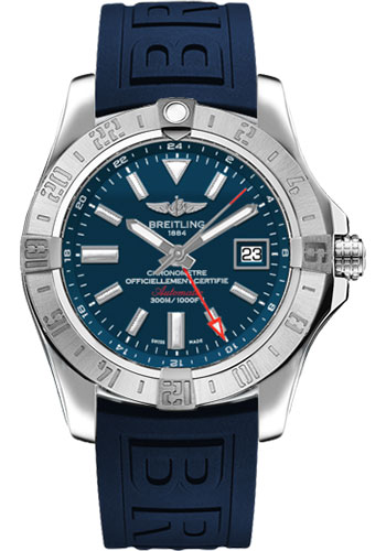 Breitling Watches - Avenger II GMT Diver Pro III Strap - Deployant Buckle - Style No: A3239011/C872-diver-pro-iii-blue-deployant