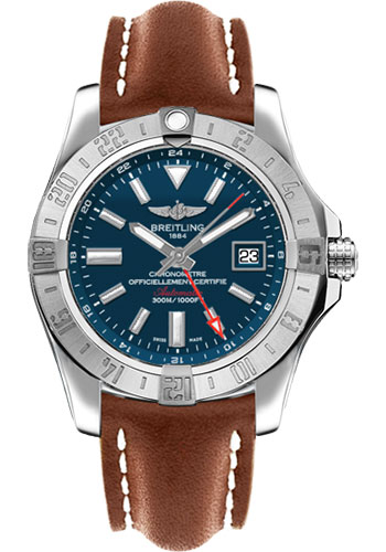 Breitling Watches - Avenger II GMT Leather Strap - Tang Buckle - Style No: A3239011/C872/433X/A20BA.1