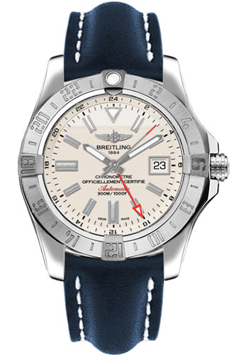 Breitling Watches - Avenger II GMT Leather Strap - Deployant Buckle - Style No: A3239011/G778/112X/A20D.1