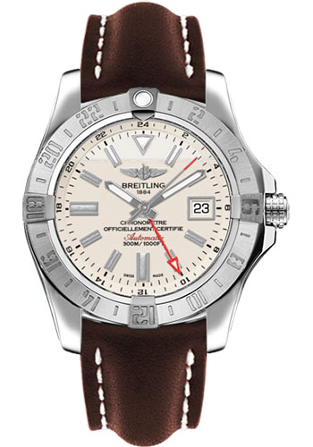 Breitling Watches - Avenger II GMT Leather Strap - Tang Buckle - Style No: A3239011/G778-leather-brown-tang
