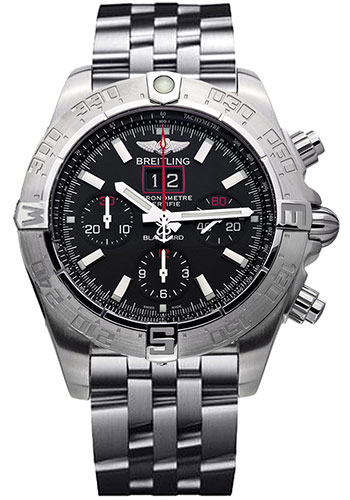 Breitling Watches - Blackbird Red Strike - Style No: A4436010/BB71-pilot-steel