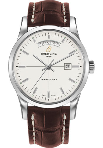 Breitling Watches - Transocean Day and Date Stainless Steel - Croco Strap - Deployant - Style No: A4531012/G751/740P/A20D.1