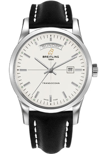 Breitling Watches - Transocean Day and Date Stainless Steel - Leather Strap - Tang - Style No: A4531012/G751/435X/A20BA.1