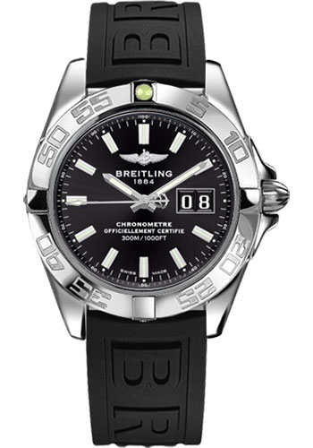 Breitling Watches - Galactic 41 Stainless Steel - Diver Pro III Strap - Deployant - Style No: A49350L2/BE58-diver-pro-iii-black-deployant