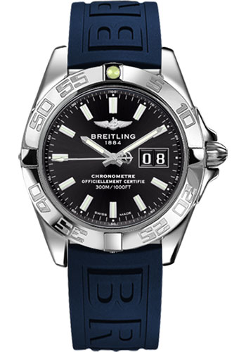 Breitling Watches - Galactic 41 Stainless Steel - Diver Pro III Strap - Deployant - Style No: A49350L2/BE58-diver-pro-iii-blue-deployant
