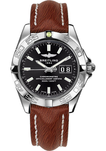 Breitling Watches - Galactic 41 Stainless Steel - Sahara Strap - Tang - Style No: A49350L2/BE58-sahara-brown-tang