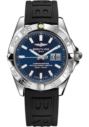Breitling Watches - Galactic 41 Stainless Steel - Diver Pro III Strap - Deployant - Style No: A49350L2/C929-diver-pro-iii-black-deployant