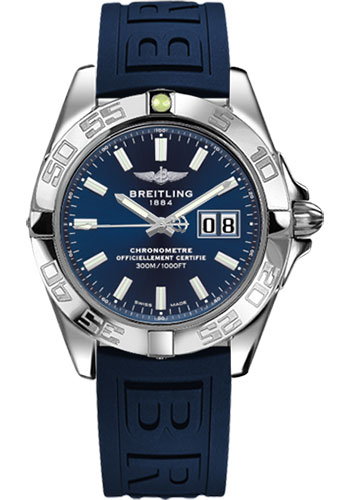 Breitling Watches - Galactic 41 Stainless Steel - Diver Pro III Strap - Deployant - Style No: A49350L2/C929-diver-pro-iii-blue-deployant