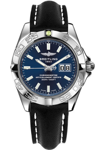Breitling Watches - Galactic 41 Stainless Steel - Leather Strap - Deployant - Style No: A49350L2/C929-leather-black-deployant