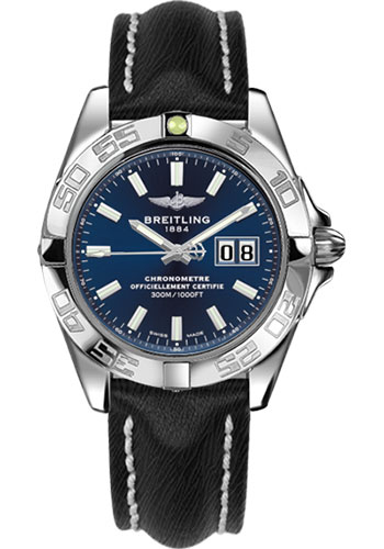 Breitling Watches - Galactic 41 Stainless Steel - Sahara Strap - Deployant - Style No: A49350L2/C929-sahara-black-deployant