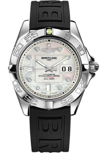 Breitling Watches - Galactic 41 Stainless Steel - Diver Pro III Strap - Deployant - Style No: A49350L2/A702-diver-pro-iii-black-deployant