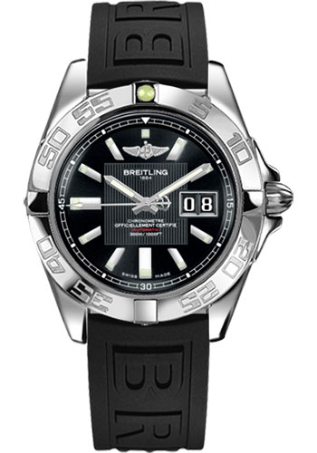 Breitling Watches - Galactic 41 Stainless Steel - Diver Pro III Strap - Deployant - Style No: A49350L2/BA07-diver-pro-iii-black-deployant