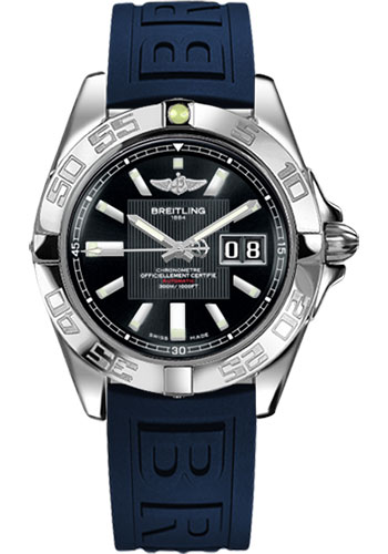 Breitling Watches - Galactic 41 Stainless Steel - Diver Pro III Strap - Deployant - Style No: A49350L2/BA07-diver-pro-iii-blue-deployant