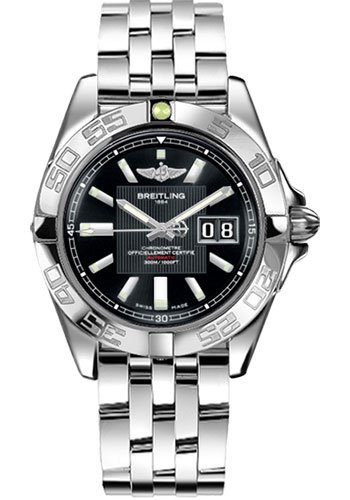 Breitling Watches - Galactic 41 Stainless Steel - Style No: A49350L2/BA07-pilot-steel