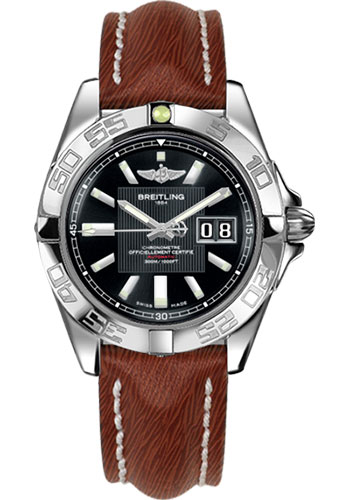 Breitling Watches - Galactic 41 Stainless Steel - Sahara Strap - Deployant - Style No: A49350L2/BA07-sahara-brown-deployant