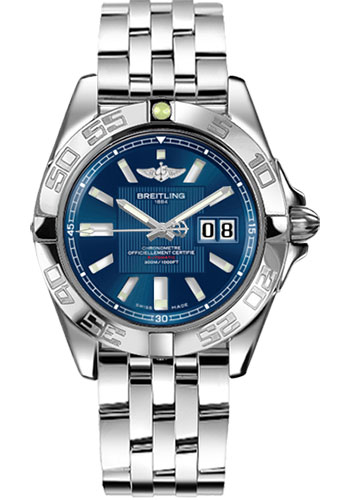 Breitling Watches - Galactic 41 Stainless Steel - Style No: A49350L2/C806-pilot-steel