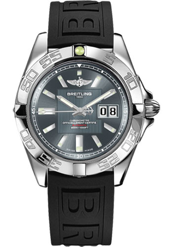 Breitling Watches - Galactic 41 Stainless Steel - Diver Pro III Strap - Deployant - Style No: A49350L2/F549-diver-pro-iii-black-deployant