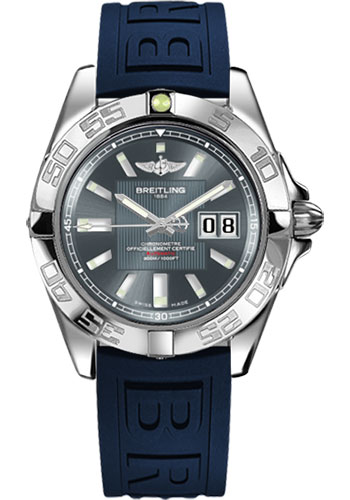 Breitling Watches - Galactic 41 Stainless Steel - Diver Pro III Strap - Deployant - Style No: A49350L2/F549-diver-pro-iii-blue-deployant