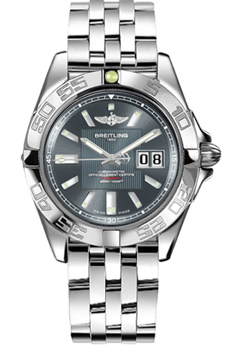 Breitling Watches - Galactic 41 Stainless Steel - Style No: A49350L2/F549-pilot-steel