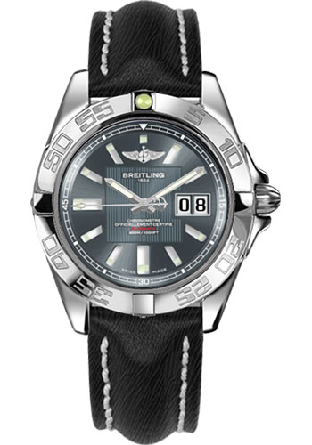 Breitling Watches - Galactic 41 Stainless Steel - Sahara Strap - Deployant - Style No: A49350L2/F549-sahara-black-deployant