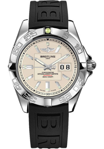 Breitling Watches - Galactic 41 Stainless Steel - Diver Pro III Strap - Deployant - Style No: A49350L2/G699-diver-pro-iii-black-deployant