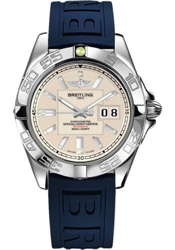 Breitling Watches - Galactic 41 Stainless Steel - Diver Pro III Strap - Deployant - Style No: A49350L2/G699-diver-pro-iii-blue-deployant