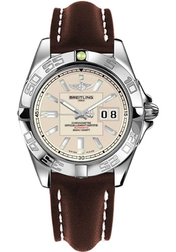 Breitling Watches - Galactic 41 Stainless Steel - Style No: A49350L2/G699-leather-brown-tang