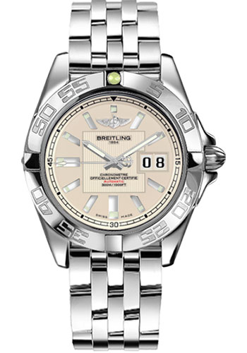 Breitling Watches - Galactic 41 Stainless Steel - Style No: A49350L2/G699-pilot-steel