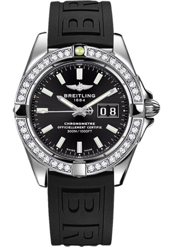Breitling Watches - Galactic 41 Stainless Steel - Dia Bezel - Diver Pro III Strap - Deployant - Style No: A49350LA/BE58-diver-pro-iii-black-deployant