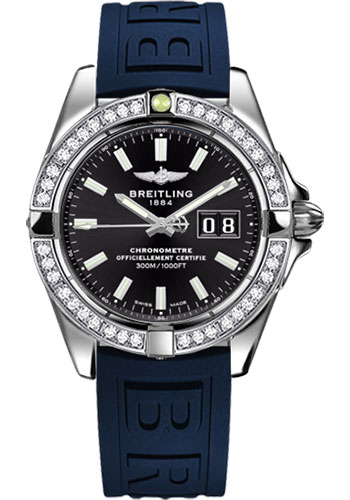 Breitling Watches - Galactic 41 Stainless Steel - Dia Bezel - Diver Pro III Strap - Deployant - Style No: A49350LA/BE58-diver-pro-iii-blue-deployant