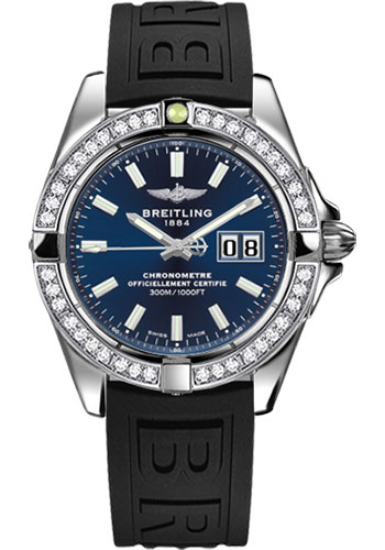 Breitling Watches - Galactic 41 Stainless Steel - Dia Bezel - Diver Pro III Strap - Deployant - Style No: A49350LA/C929-diver-pro-iii-black-deployant