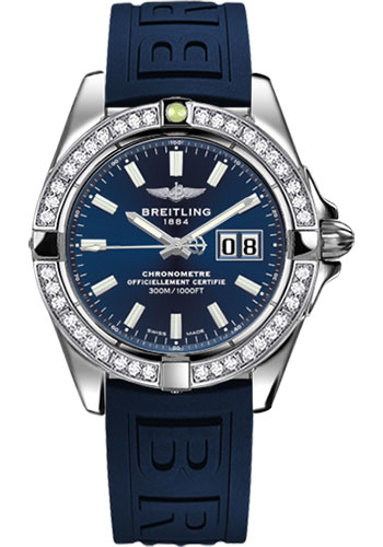 Breitling Watches - Galactic 41 Stainless Steel - Dia Bezel - Diver Pro III Strap - Tang - Style No: A49350LA/C929-diver-pro-iii-blue-tang
