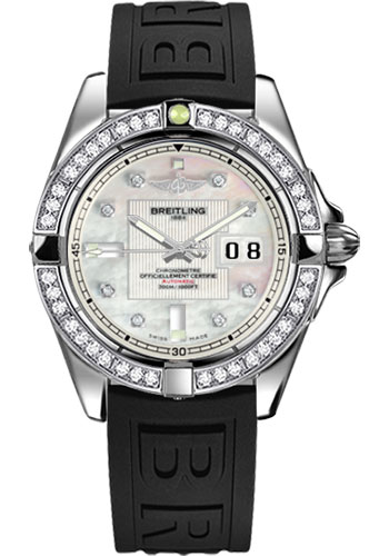 Breitling Watches - Galactic 41 Stainless Steel - Dia Bezel - Diver Pro III Strap - Deployant - Style No: A49350LA/A702-diver-pro-iii-black-deployant
