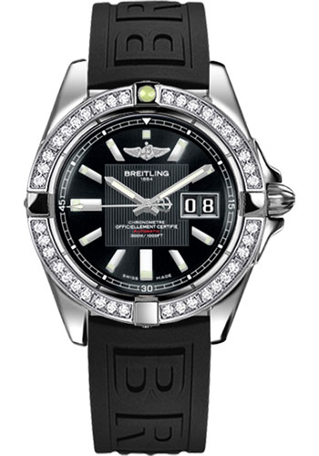 Breitling Watches - Galactic 41 Stainless Steel - Dia Bezel - Diver Pro III Strap - Deployant - Style No: A49350LA/BA07-diver-pro-iii-black-deployant