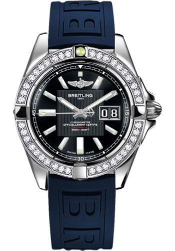 Breitling Watches - Galactic 41 Stainless Steel - Dia Bezel - Diver Pro III Strap - Deployant - Style No: A49350LA/BA07-diver-pro-iii-blue-deployant