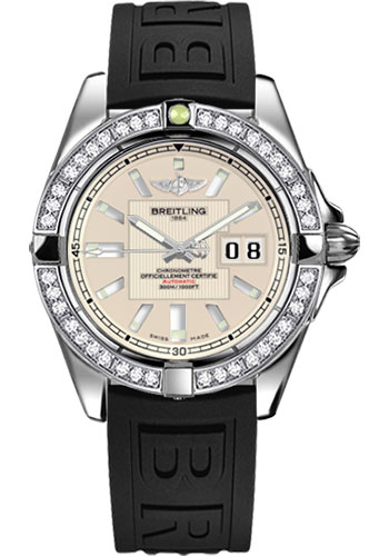 Breitling Watches - Galactic 41 Stainless Steel - Dia Bezel - Diver Pro III Strap - Deployant - Style No: A49350LA/G699-diver-pro-iii-black-deployant